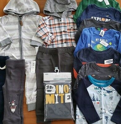 Old Navy & Carter's Boys 12-18 MONTHS Long Sleeve Clothing Lot 13 PIECES #24-340