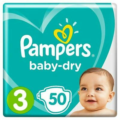 Pampers Baby Dry Size 3 Essential Pack 50 Nappies