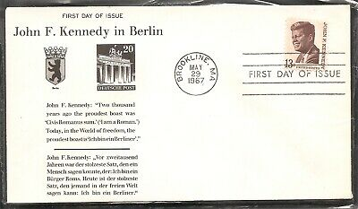 US Scott # 1287 John F. Kennedy FDC. Cacheted Cover