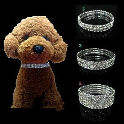 Crystal Dog Collars Fancy Small Bling Rhinestone Collar Pet Cat Puppy Necklace