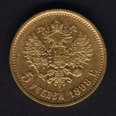 Russia. 1898 Gold 5 Roubles..  Part Lustre - aEF