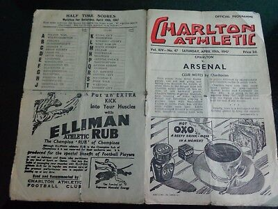 CHARLTON ATHLETIC v  ARSENAL   Div 1   1946/47