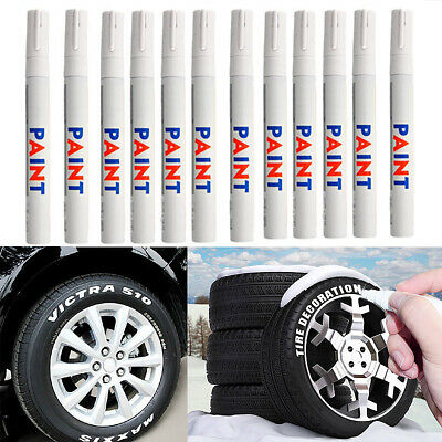 12PCS Motorcycle Tread Marking Car Paint Tire Pen Marker White Tyre Waterproof