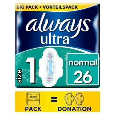 Always Ultra Normal Size 1 Sanitary Towels With Wings 26