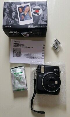 Fujifilm Instax Mini 70 Instant Camera - Black inc 10 Shots