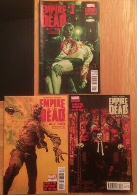 GEORGE ROMERO'S EMPIRE OF THE DEAD ACT TWO #1 #2 #3 (MARVEL 2015) NM 1st PRINTS