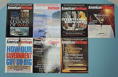American Heritage ~ lot of 7 issues - Year 1997 ~ February thru November, 7 of 8