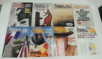 American Heritage ~ lot of 8 issues - Year 1989 ~ February thru December, 8 of 8