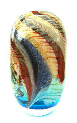 Maxence Parot France Singlevase Gammacolor Creation Blue Aqua Design Glass Vase