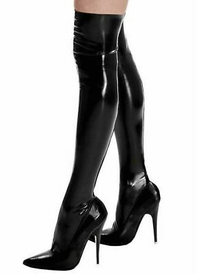 Ledapol Datex Latex 9023 Strümpfe mit Zipper Rubber Gummi Stockings