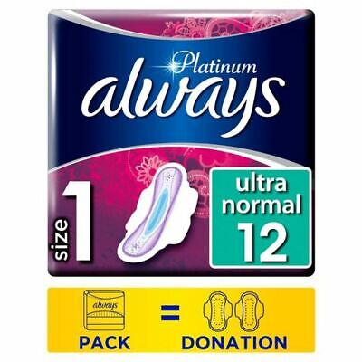 Always Platinum Normal Size 1 Sanitary Towels With Wings 12