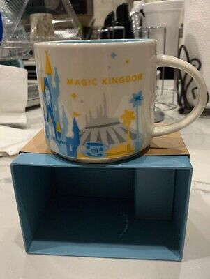 Disney Parks Starbucks You Are Here Magic Kingdom 14 Oz Coffee Mug V1