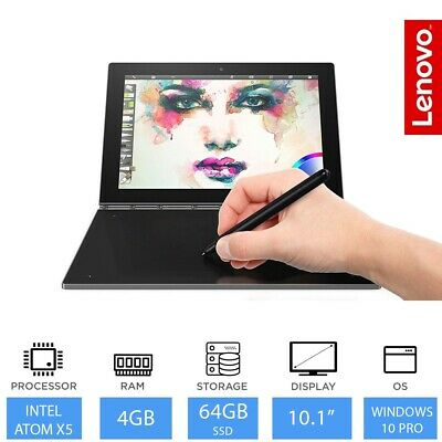 "Lenovo Yoga Book 10.1"" 2 in 1 Laptop Tablet Intel Atom x5-Z8550 4GB RAM 64GB SSD"