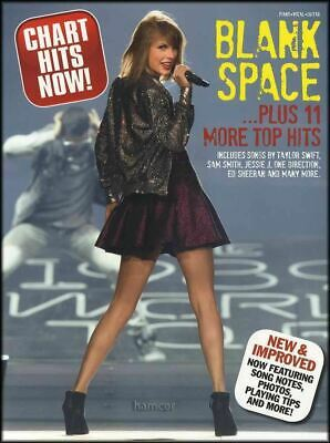 Blank Space plus 11 More Top Hits Piano Vocal Guitar Sheet Music Book PVG Bills