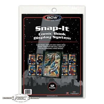 "BCW Snap-It - Black Comic Book Display System (7-3/8"" x 10-3/8"") - Pack of 12"