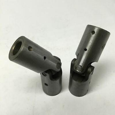 "Lot of 2 Natco Universal Joint Drive Shaft Alignment Coupler 9/16"" x 9/16"" Bores"
