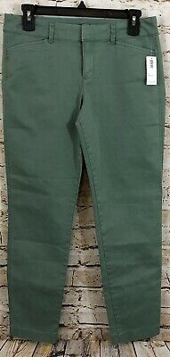 Old Navy Pixie pants jeans womens 4 green NEW stretch A8