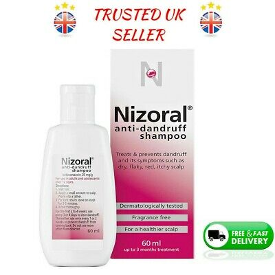 Nizoral Anti Dandruff Shampoo 60ml 100ml Hair Care Ketoconazole Treatments Free