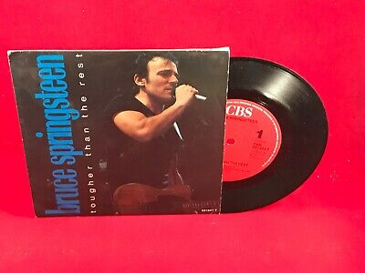 """BRUCE SPRINGSTEEN Tougher Than The Rest 1988 7"""" Vinyl Single EXCELLENT CONDIT A"""