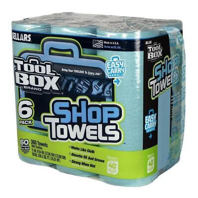 Paper Towels Soft Strong Absorbent Shop Home Garage Sellars 6-Pack