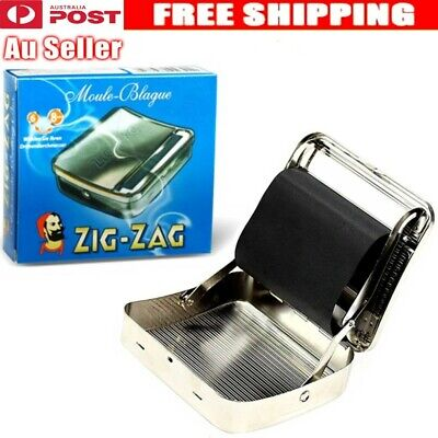 Metal Automatic Cigarette Tobacco Roller Roll Rolling Machine Box Case Tin