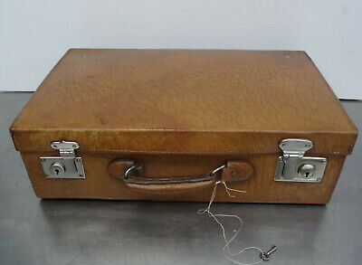 antique leather suitcase - Antiker kleiner Leder Koffer Oldtimer Reisekoffer
