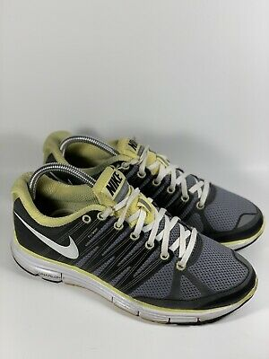 sports shoes c37db 285a0 Women Nike Lunar Elite 2 Running Shoes 9.5 Grey Yellow 429783 Flywire