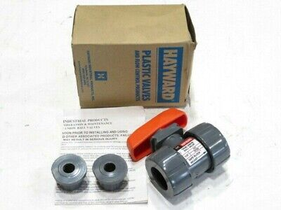 "1/2"" Hayward TB1050ST PVC Viton True Union Ball Valve NEW IN BOX"
