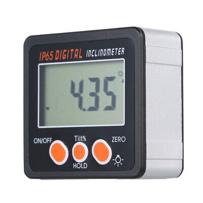 Digital Inclinometer Protractor Bevel Angle Gauge Magnet Base LCD Display A4X4
