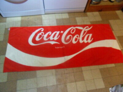 Serviette De Bain Coca Cola.Ancienne Serviette De Bain Pub Coca Cola Collector 80 S Vintage Bath Towel
