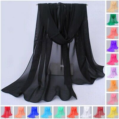 Long Soft Wrap Lady Shawl Chiffon Silk like Scarf Scarves Fashion Women
