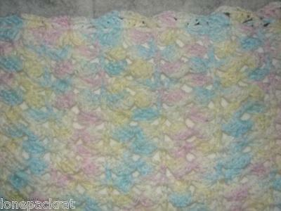 Handcrafted Hand Crochet Baby Quilt Blanket Throw