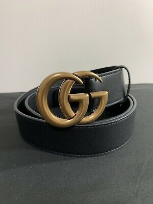 9e01310a171 GUCCI Men s GG Buckle Black Leather Belt - ITALY VINTAGE Style 48 120  PRISTINE