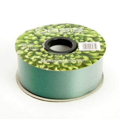 "2"" FLORIST RIBBON DARK GREEN 50mm Satin Flower Hamper Gift Weddings 91m Roll"