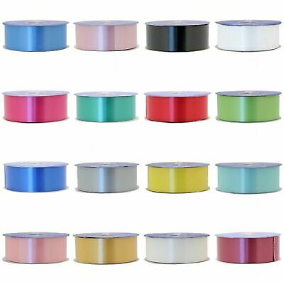 "2"" FLORIST RIBBON 50mm Poly Satin Flower Hamper Gift Crafts Wedding Car 91m Roll"