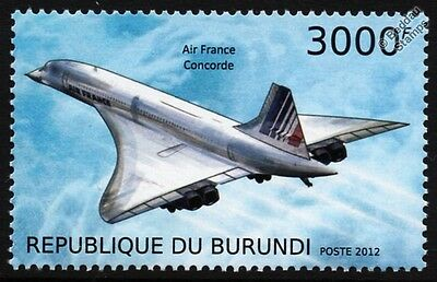 Air France CONCORDE Supersonic Jet Airliner Aircraft Stamp (2012)