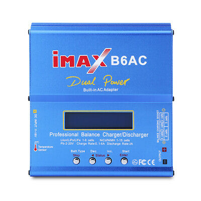 IMAX B6 AC 80W 1-6S RC LiPo NiMh NiCd Battery Balance Charger Power for Drone