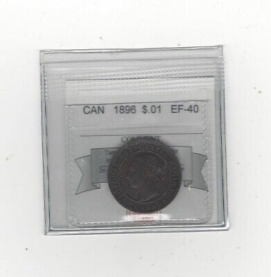 **1896**,Coin Mart Graded Canadian, Large One Cent, **EF-40**