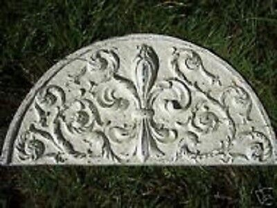 Fleur de lis  pediment mold concrete plaster casting mould