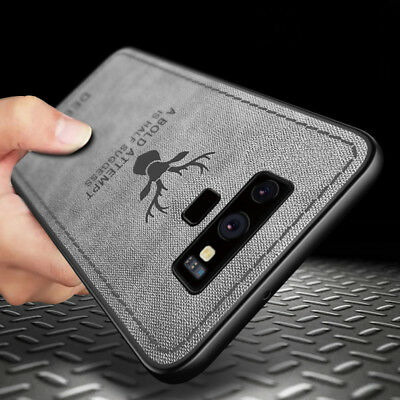 For Samsung Galaxy Note 9 S8 S9 Hybrid Soft TPU Leather Case Shockproof Cover