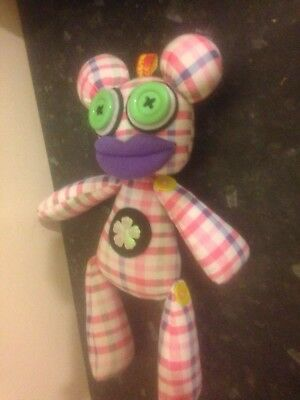 Mutant Monster Checked Yellow Button Doll