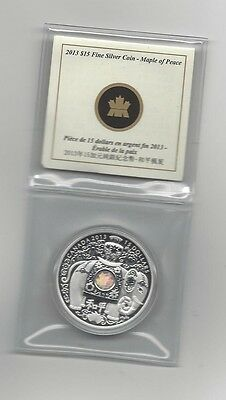 **2013**Canada, Maple Of Peace, Silver $15 Dollar Coin