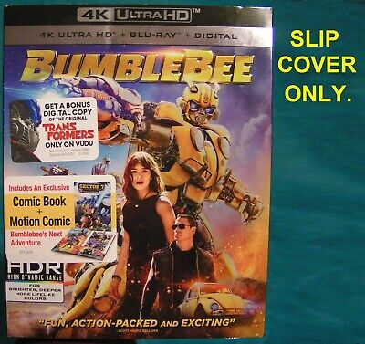 New BUMBLEBEE = Slipcover Only = NO MOVIE From 4K UHD/Blu Ray/Digital Code Pack