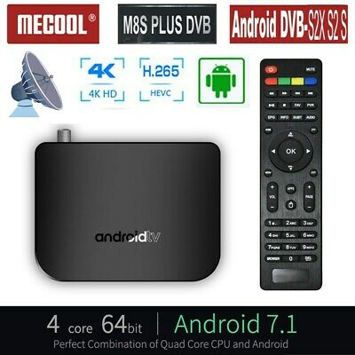 MECOOL M8S PLUS Smart TV BOX 4K HD Android7.1 Quad Core WiFi Media Streamer Z6Y4