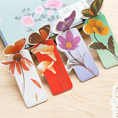 3 PCS Butterfly Shape Bookmark Book Markers Exquisite Wings Open Unique Gift