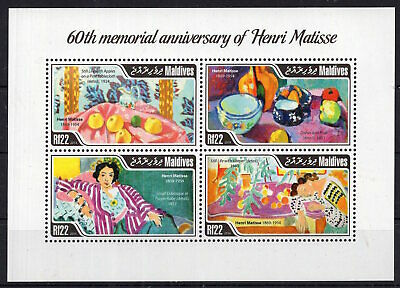 Discount ! - Maldives 2014 - Art Henry Matisse  on postage stamps  MNH** F113