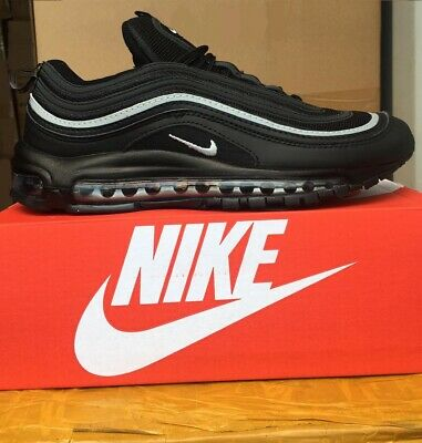 promo code 02ab0 10609 Nike Air Max 97 triple all Black With White strip Brand New SIZES FROM UK 6