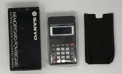 NEW Sanyo CX 1231 Vintage Calculator Complete - Box and Case - Sealed NOS 1980