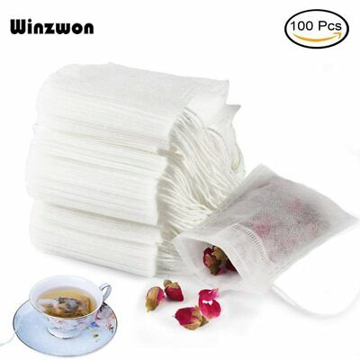 100Pcs Disposable Tea Bags Empty Scented Tea Bag String Heal Seal Filter Paper