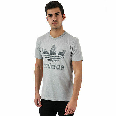 2e3f2e649421d ADIDAS TRACTION IN Action Trefoil Men's T-Shirt Medium Grey Heather ...